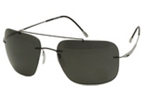 שחור וכסף/עדשה אפור Polarized, קוד צבע: 6200